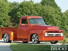 Check out this 1954 Ford F100 that has a Chevrolet 383 stroker, an Edelbrock Victor intake, and a Demon 750 carburetor. Read more only at www.customclassictrucks.com, the official website for Custom Classic Trucks Magazine!