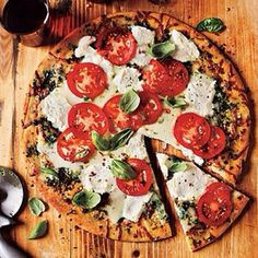 Instagram photo by befitrecipes - White Pizza with Tomato and Basil  Ingredients  1 (10-ounce) Italian cheese-flavored thin pizza crust (suc...