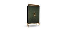 Divine is an unique armoire covered with peacock feathers, with an unique design that ultimately show us fashion furniture.