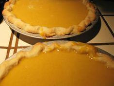 real fresh pumpkin pies for oven