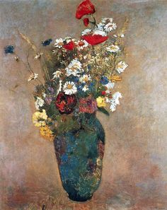 Vase with flowers by @redonart #realism