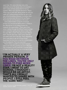 January Issue: Jared Leto shot by Justin Campbell for Nylon Magazine
