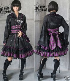 VISUAL KEI PUNK Gothic KERA Lolita Kimono Dress NANA