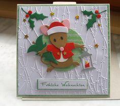 Weihnachtskarten - Weihnachtskarte  - ein Designerstück von Wollzottel bei DaWanda