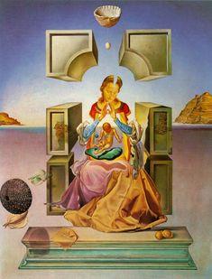Salvador Dali >> La Madone de Port Lligat (première version), 1949     (huile, reproduction, copie, tableau, oeuvre, peinture).