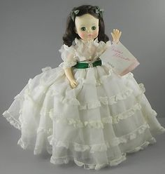 "Madame Alexander Scarlett O'hara Doll in White 14""  http://cgi.ebay.com/ws/eBayISAPI.dll?ViewItem=330715374917=ADME:L:LCA:US:1123#ht_3394wt_754"