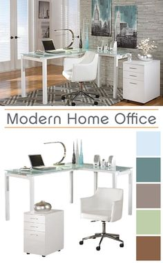 Sleek And Modern This Beautiful L Shaped Desk Is Both Functional Stylish Home Office