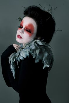 wildling | photographer ? cool clown circus inspired fashion couture hair and makeup fashion art photography