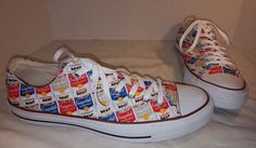 NEW CONVERSE CHUCK TAYLOR ALL STAR ANDY WARHOL CAMBELL SOUP LO SNEAKERS SIZE 11…