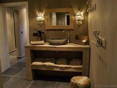 Like a spa Ideal Bathrooms, Rustic Bathrooms, Chic Bathrooms, Wood Bathroom, Downstairs Bathroom, Bathroom Inspo, Beautiful Bathrooms, Bathroom Inspiration, Small Bathroom
