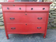 attraktive rote kommode für ihr zuhause