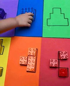 Color block puzzles Puzzle from Lego Duplo. To promote the spatial imagination or whatever. Color block puzzles Puzzle from Lego Duplo. To promote the spatial imagination or whatever. Montessori Activities, Color Activities, Educational Activities, Learning Activities, Activities For Kids, Cognitive Activities, Montessori Materials, Preschool Colors, Preschool Learning