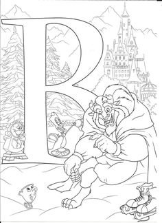 Disney abc coloring pages Coloring Letters, Alphabet Coloring Pages, Cute Coloring Pages, Cartoon Coloring Pages, Coloring Pages To Print, Coloring Pages For Kids, Coloring Books, Kids Coloring, Disney Coloring Sheets
