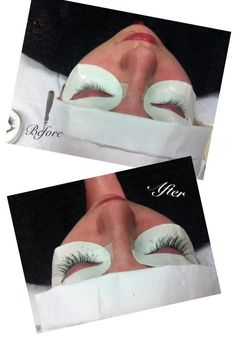 40333bb21b3 Before and After Shot of the Misencil Lash Extensions at Ooh, La, La in  Milton Ontario