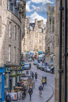 Cockburn Street in Edinburgh, Scotland.