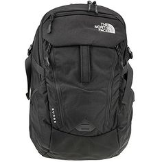 """The North Face Surge Backpack Outdoor Store Utterly redesigned to arrange your electronics and simplify your life on-the-go, the 33-liter Surge backpack is constructed of hyper-durable ballistics nylon and crafted with a padded haul deal with at the exterior. Includes a front organizational compartment, a bigger main compartment, and a fifteen"""" laptop compartment that zips Utterly open and lays flat to fulfill TSA ... http://campgear.co/shop/camping-gear/the-north-face-surge-backpack/"""