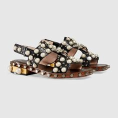Gucci Leather studded sandal Detail 2