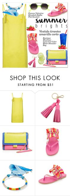 """""""Summer Brights"""" by paculi ❤ liked on Polyvore featuring Kate Spade, Boutique Moschino, Frances Valentine, Rosantica, yellow and summerbrights"""