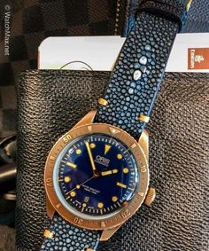 b71c63b77 FS: Black Stingray Strap + Minimal Bronze Stitching for Oris Carl Brashear  Bronze Image 1. Simon · Watches · Seiko Watches