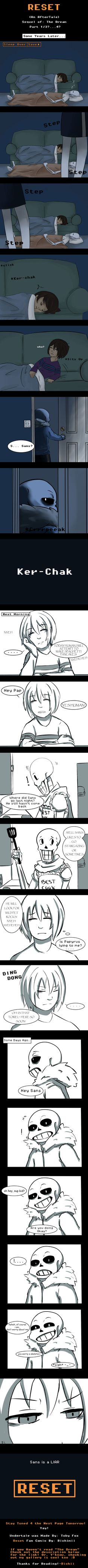 "RESET Sequel to ""The Dream"" Undertale/comic/sans/papyrus/frisk/fanart/Sequel"