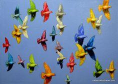 Molokai Rainbows, Diane and Clay's beautiful homing pidgeons
