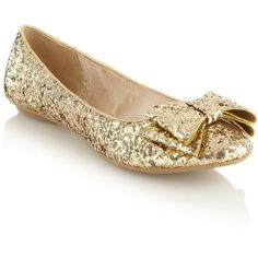 Gold sequin bow pumps (243.985 IDR) ❤ liked on Polyvore featuring shoes, flats, sapatos, sapatilhas, zapatos, women's clothing, faith shoes, gold flat shoes, flat pumps and bow flats