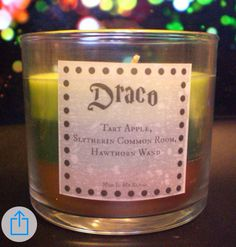 Draco scented candle. OMH it smells like apple hahaha