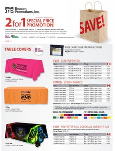 GREAT DEALS on quality Table Covers!