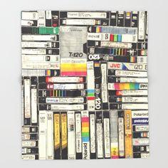 VHS+Throw+Blanket+by+HOLLIS+BROWN+THORNTON+-+$49.00