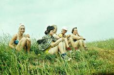 Time Machine Series. Latgalian girls in 1978. Preili county. 55 km from Rezekne. Photo credit: Depozitivu Latvija