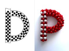 Victoriya Katamashvili. Beaded Letters Step 7