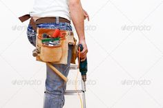 Buy workman with tools by mandygodbehear on PhotoDune. workman or handman with tools Hammer Drill, Author, Stock Photos, Tools, Search, Instruments, Searching, Writers