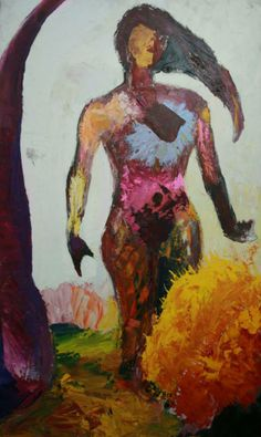 Desnudo y arbol Oil on Canvas 100x 180 cm. 2012 - sold -