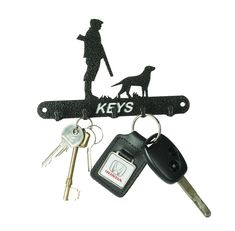 Make sure you never lose your keys with this unique 5 hook key holder. Made from steel, coated with a durable polyester black antique paint.