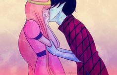 I kinda actually would like them, as a couple! Princess Bubblegum and Marshall Lee! <3