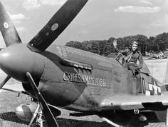 The top Mustang ace of all time was Major George E Preddy of the 352nd Fighter Group. He scored 26.83 air and 5 ground victories but was killed during the Battle of the Bulge.