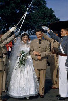 West Point wedding, 1952
