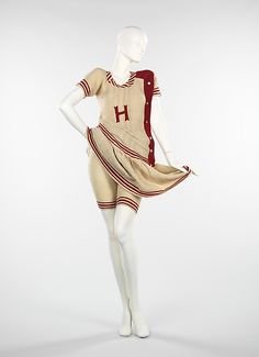 Ladies' Wool Knit Bathing Suit, American, 1916. (View 2, Showing Knit Shorts)