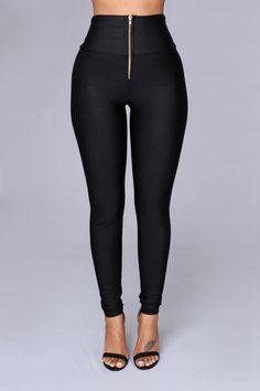 Black Nylon High Waist Leggings