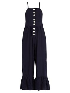Square-neck seersucker jumpsuit   | See By Chloé | MATCHESFASHION.COM US