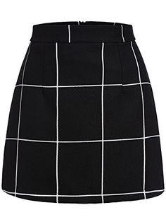SheIn Women's Plaid Bodycon Mini Skirt - Black Small SheIn https://www.amazon.com/dp/B01KZJMRWY/ref=cm_sw_r_pi_dp_x_wUGhzb4ZD0S52