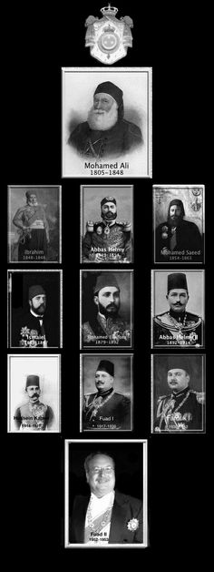 The Mohamed Ali Dynasty ruled Egypt without interruption from Muhammad Ali's seizure of power in 1805 until the proclamation of the Republic in 1953. Eleven male individuals ruled Egypt during the dynasty's 148-year lifespan.
