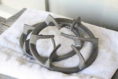 How to clean gas stove burner grates.