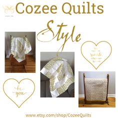Fashion set Cozee Quilts created via Etsy Handmade, Handmade Items, Together We Can, Creative Home, Kids Gifts, Etsy Store, Art Decor, Gifts For Her, Etsy Seller