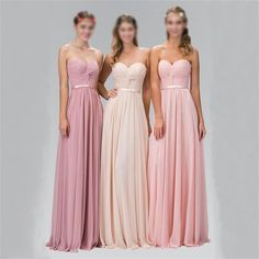 Sweetheart Chiffon Cheap Simple Different Color Bridesmaid Dresses, Wedding Guest Dresses , PD0283