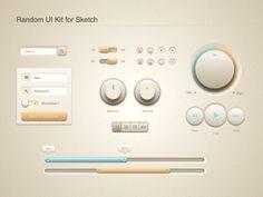 Random UI Kit - Free sketch resource for download