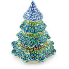 Polish Pottery 7-inch Christmas Tree | Boleslawiec Stoneware | Polmedia H3236G | Polmedia