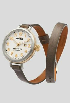Cute Double Wrap Watch in Brown