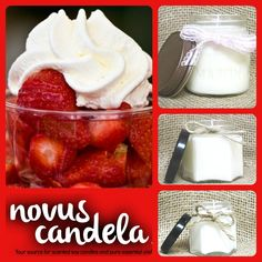 Soy Candle Mason Jar. Strawberries N Cream Scented Soy Candle. Mason Jar Candle Soy Candles Scented Candles, 2, 4 & 8 oz - pinned by pin4etsy.com
