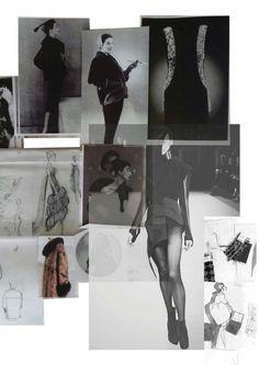 Fashion Moodboard - fashion design idea development & theme research, creative process // Christina Tan